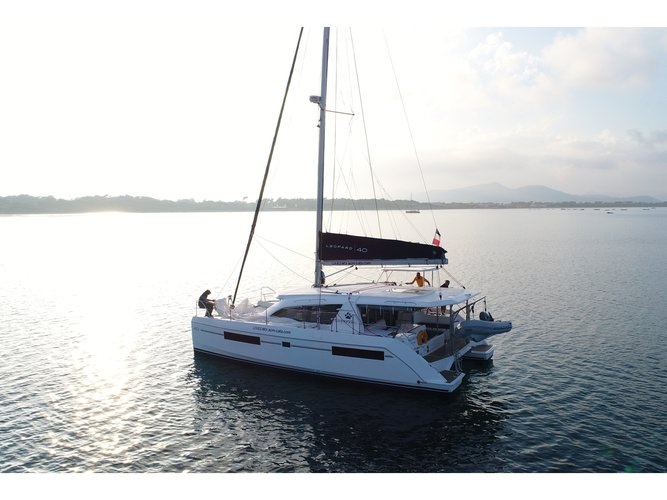 Enjoy Hyeres, FR to the fullest on our comfortable Leopard Catamarans Leopard 40