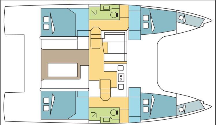 Create memories in Bahamas in this Beautiful Catamaran
