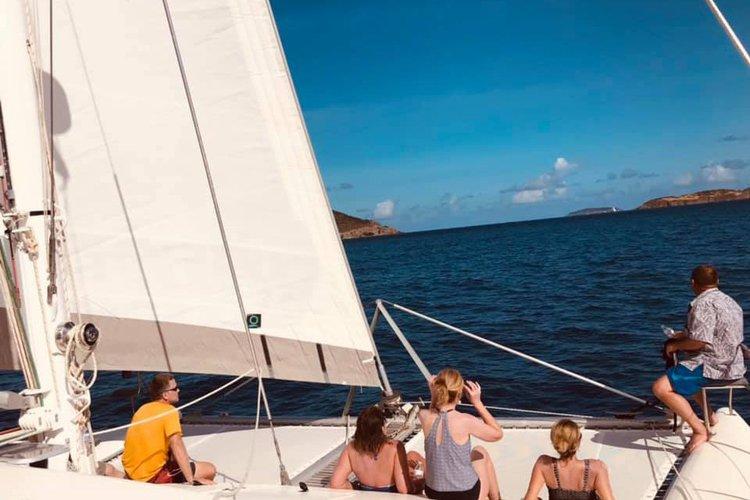 Catamaran boat for rent in St Thomas