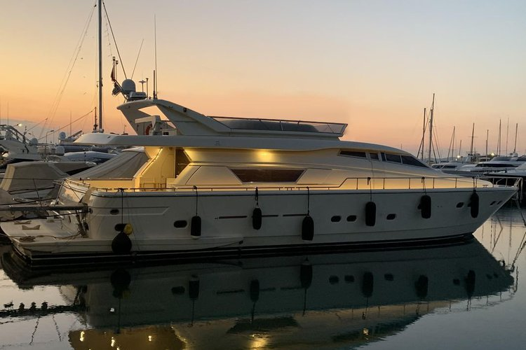 Take your relaxing holiday on this beautiful Ferretti!
