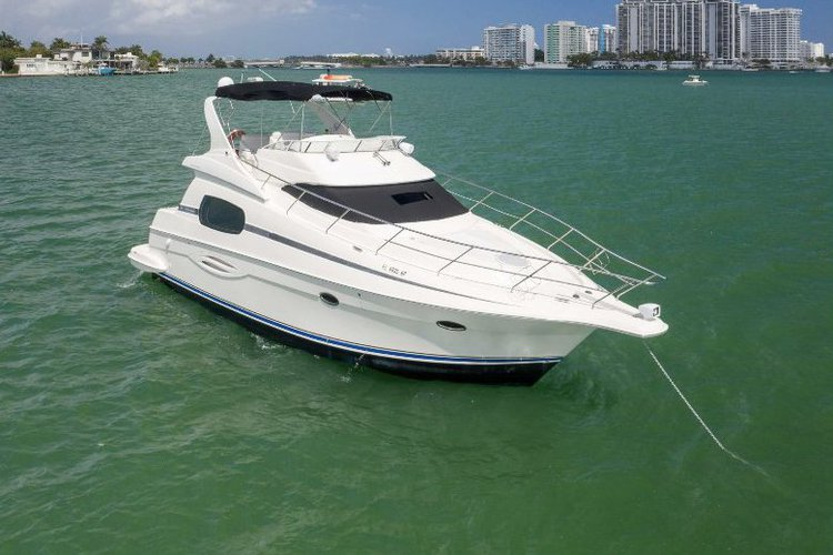 Explore Miami Beach aboard this huge and magnificent Luxury Silverton Yacht