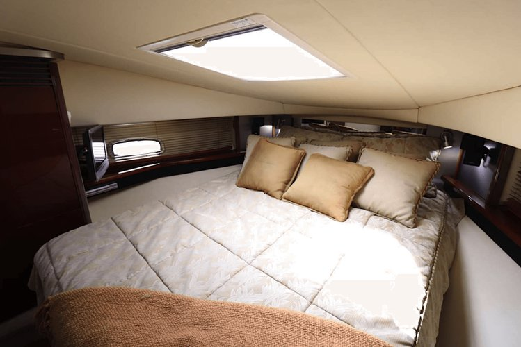 Up to 13 persons can enjoy a ride on this Sunseeker boat