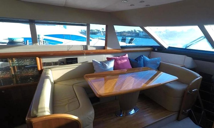 This 70.0' Viking cand take up to 13 passengers around Fort Lauderdale