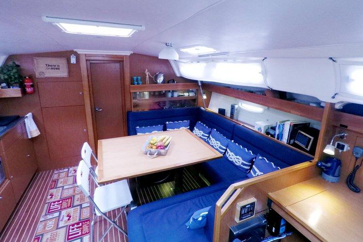 Discover Corfu surroundings on this Cruiser 47 Bavaria boat