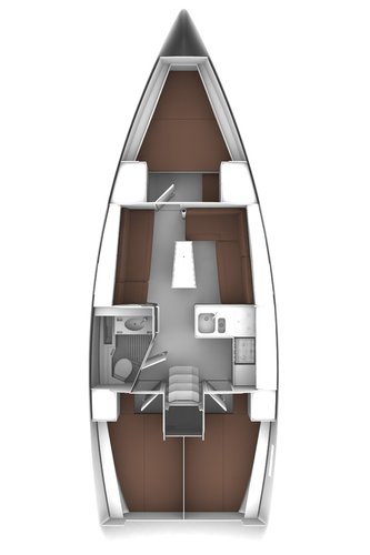 Discover Ionian Islands surroundings on this Bavaria Cruiser 37 Bavaria Yachtbau boat