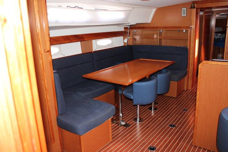 This 51.0' Bavaria Yachtbau cand take up to 10 passengers around Split region