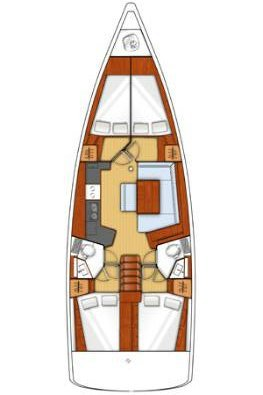 Boat for rent Bénéteau 45.0 feet in ACI marina Slano, Croatia