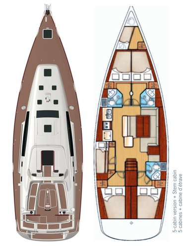 Discover Šibenik region surroundings on this Oceanis 50 Bénéteau boat