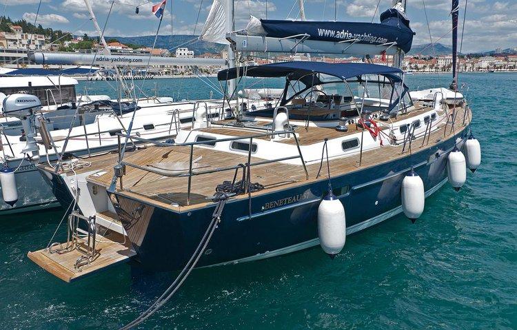 Bénéteau's 57.0 feet in Split region