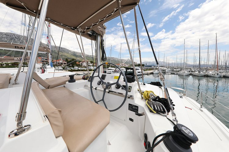 Discover Split region surroundings on this Bali 4.0 Catana boat