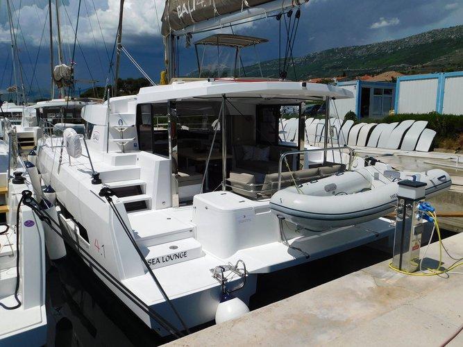 Discover Split region surroundings on this Bali 4.1 Catana boat