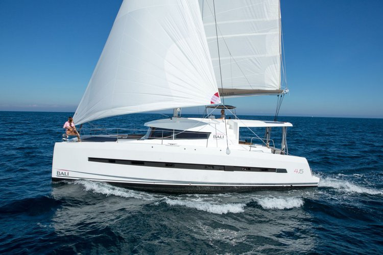 Discover Split region surroundings on this Bali 4.5 Catana boat