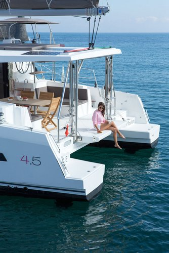 Up to 10 persons can enjoy a ride on this Catamaran boat