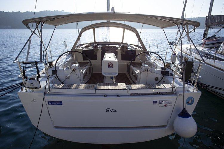 Hop aboard this amazing sailboat rental in Kvarner!