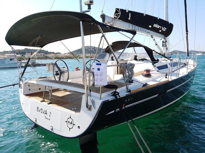 Discover Šibenik region surroundings on this Elan 450 Performance Elan Marine boat