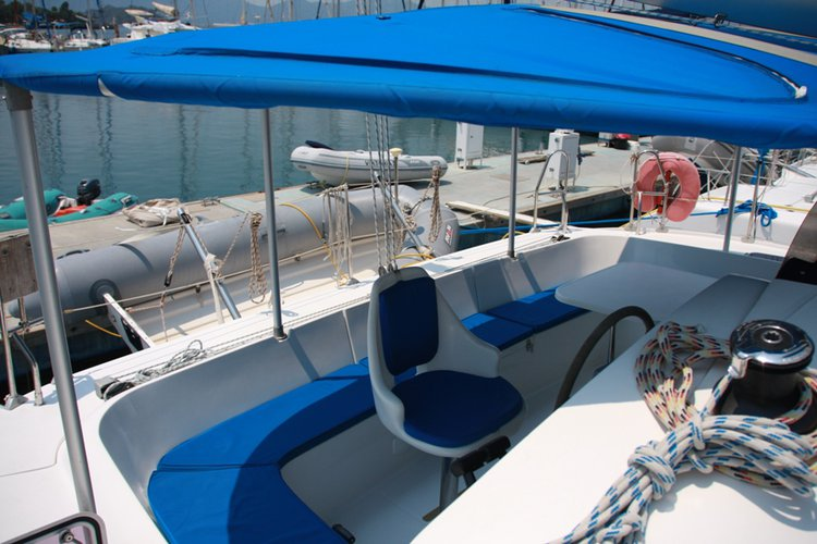 Catamaran boat rental in Marmaris Yacht Marina, Turkey