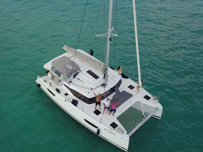 Sail the beautiful waters of Taranto on this cozy Fountaine Pajot Astréa 42