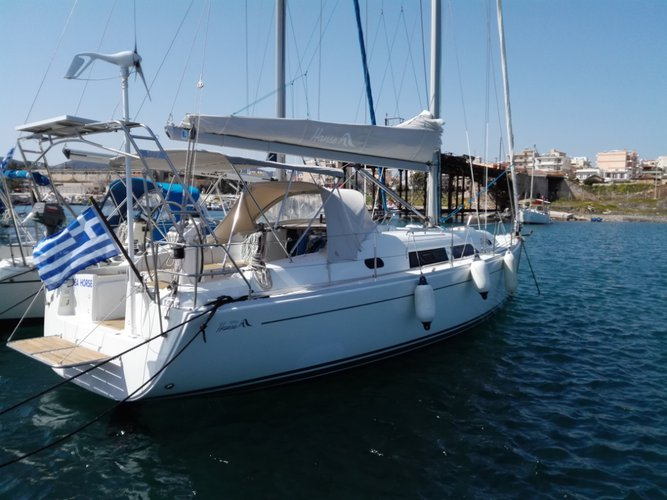 Sail the beautiful waters of Cyclades on this cozy Hanse Yachts Hanse 370