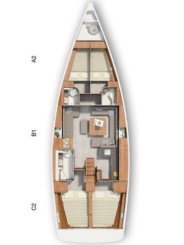 Discover Kvarner surroundings on this Hanse 455 Hanse Yachts boat