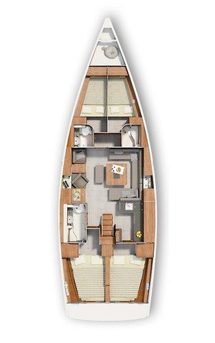 Boat for rent Hanse Yachts 45.0 feet in Marina Kastela, Croatia