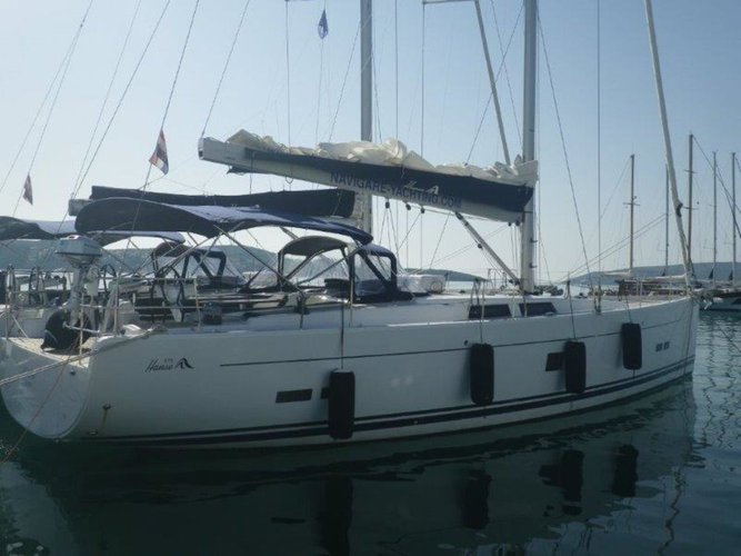 Rent this Hanse Yachts Hanse 575 for a true nautical adventure