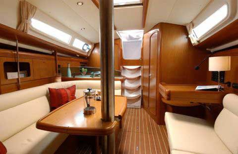 This 35.0' Jeanneau cand take up to 6 passengers around Aegean