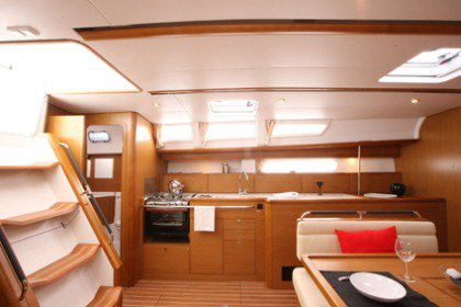 This 45.0' Jeanneau cand take up to 8 passengers around Aegean
