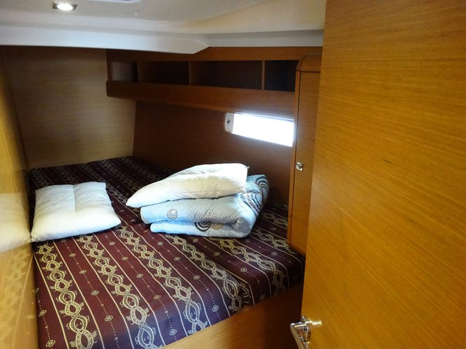 Discover Dodecanese surroundings on this Sun Odyssey 469 Jeanneau boat