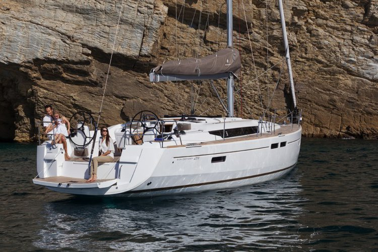 Charter this amazing Jeanneau Sun Odyssey 479 in Aegean, TR