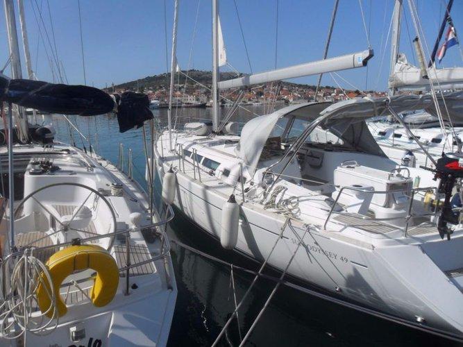 Get on the water and enjoy Šibenik region in style on our Jeanneau Sun Odyssey 49