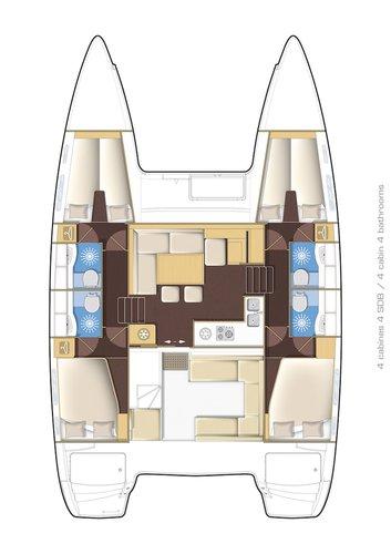 Boat for rent Lagoon-Bénéteau 39.0 feet in Marina Split - ACI , Croatia