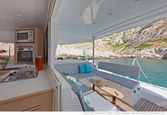 Catamaran boat rental in Marina Sangulin, Biograd, Croatia