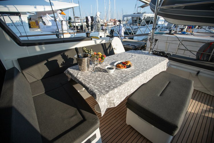 Catamaran boat rental in ACI marina Slano, Croatia