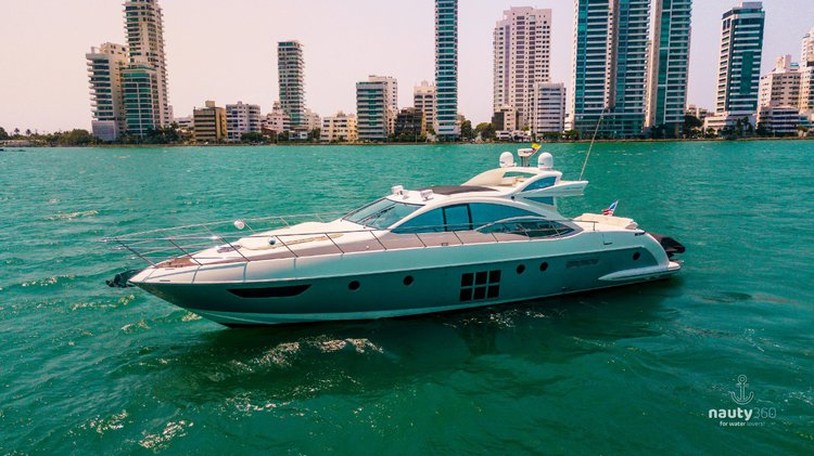 Enjoy the Caribbean breeze and Cartagena's landscape from our Azimut 62' S