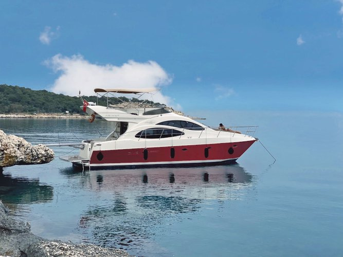 The perfect boat to enjoy everything Göcek, TR has to offer