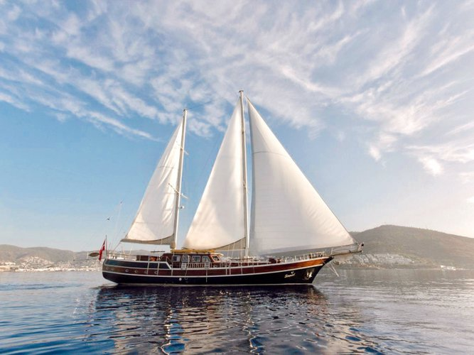Sail Bodrum, TR waters on a beautiful  Gulet Serenad