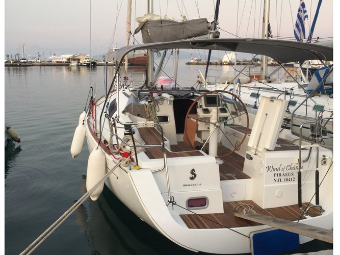 Hop aboard this amazing sailboat rental in Paros!