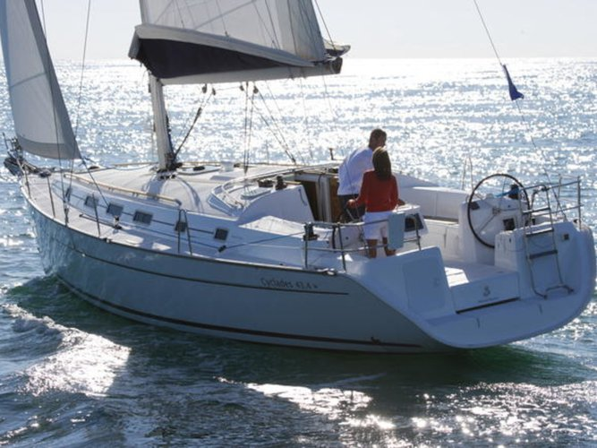 Experience Lavrion, GR on board this amazing Beneteau Cyclades 43.4