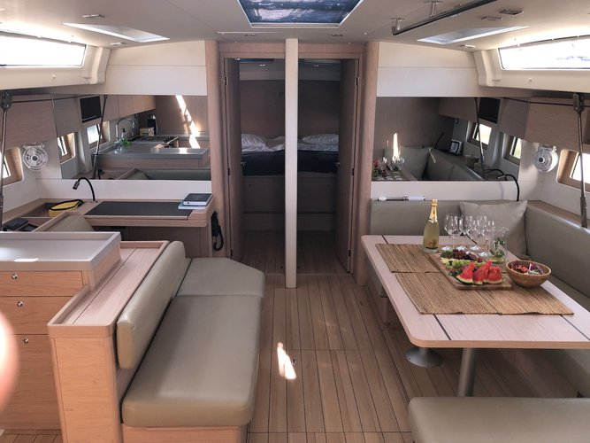 Hop aboard this amazing sailboat rental in Cala D`Or!