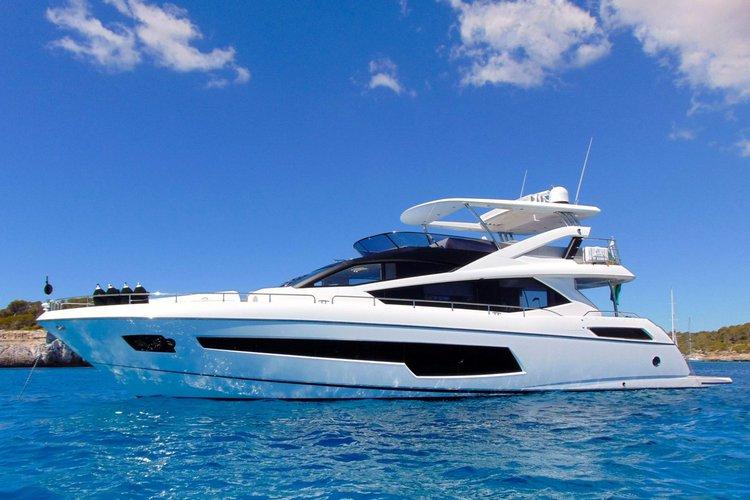 75' Sunseeker Flybridge Luxury Yacht rental in Los Angeles CA