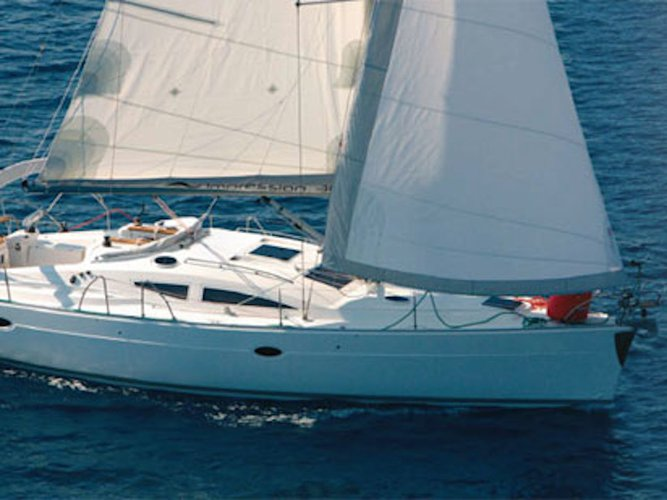 Get on the water and enjoy Korfos in style on our Elan Elan 384