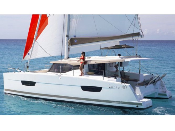 Get on the water and enjoy Fethiye in style on our Fountaine Pajot Lucia 40