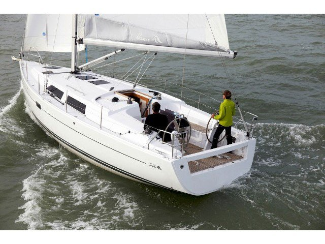 Sail the beautiful waters of  on this cozy Hanse Yachts Hanse 375