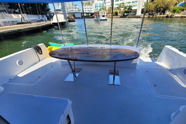Discover miami beach surroundings on this CATAMARAN 46 CATAMARAN boat