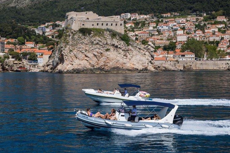 Inflatable outboard boat rental in Lapadska Obala 1, Croatia