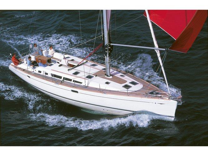 Enjoy luxury and comfort on this Jeanneau Sun Odyssey 49 in Keramoti