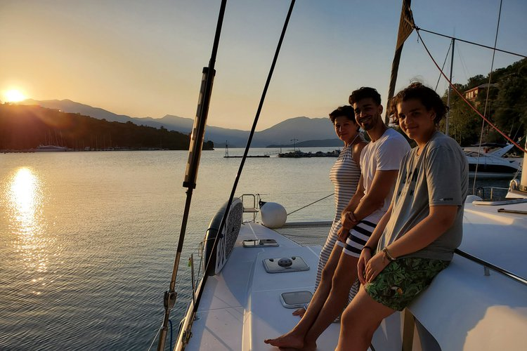 Boating is fun with a Lagoon in Lefkada