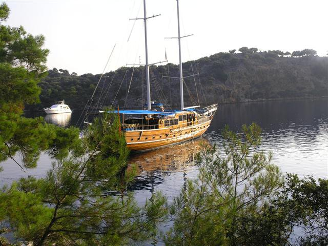 This wonderful luxury gulet sailing at the coasts of aegean and Mediterranean is 32 meters long and for 18 people
