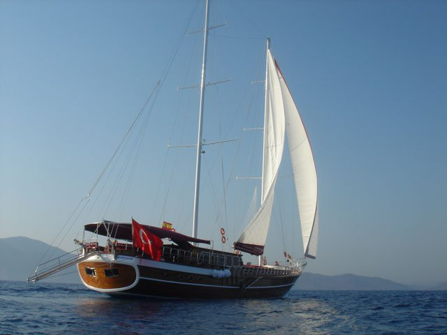 This wonderful luxury gulet sailing at the coasts of aegean and Mediterranean is 39 meters long and for 22 people