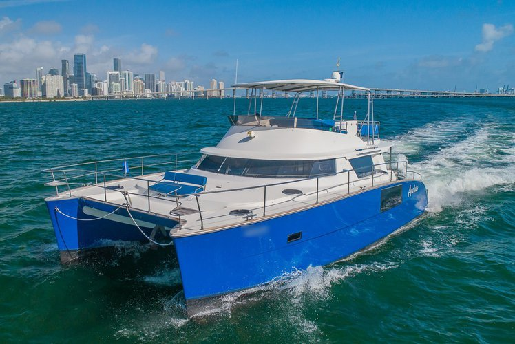 Boating is fun with a Catamaran in Key Biscayne